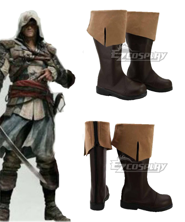 Assassins Creed 4: Black Flag Connor Kenway Cosplay Boots COSS0404