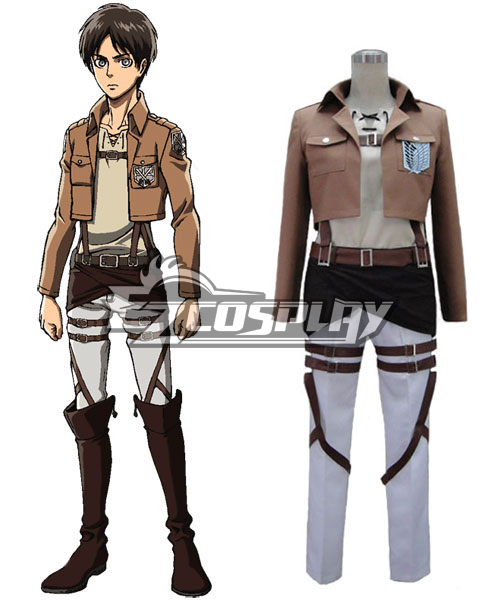 Attack on Titan Eren Survey Corps Uniform Cosplay Costume - VersionA