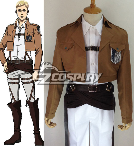 Attack on Titan Shingeki no Kyojin Erwin Smith Elvin Smith Scout Regiment Cosplay Costume