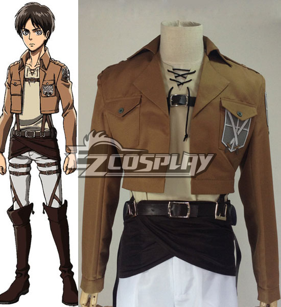 Image of Attack on Titan (Shingeki no Kyojin) Eren Jaeger Training Crops Cosplay Costume