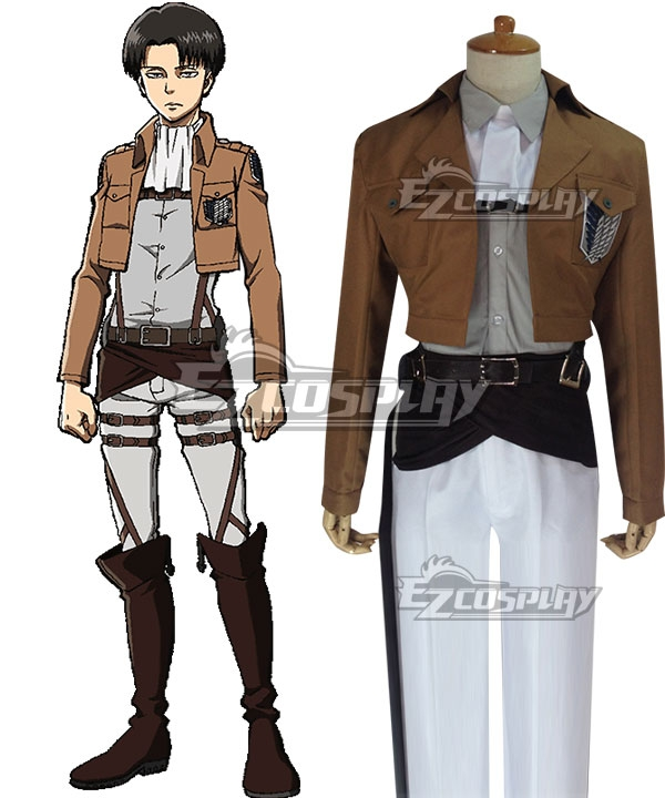 Attack on Titan Shingeki no Kyojin Levi Ackerman Rivai Akkaman Special Operations Squad Leader Scout Regiment Cosplay Costume