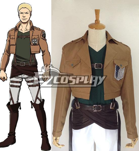 Attack on Titan Shingeki no Kyojin Reiner Braun Survey Corps Cosplay Costume
