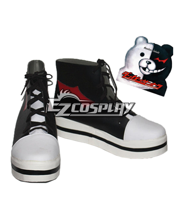 Dangan Ronpa Monokuma Black Cospaly Shoes None