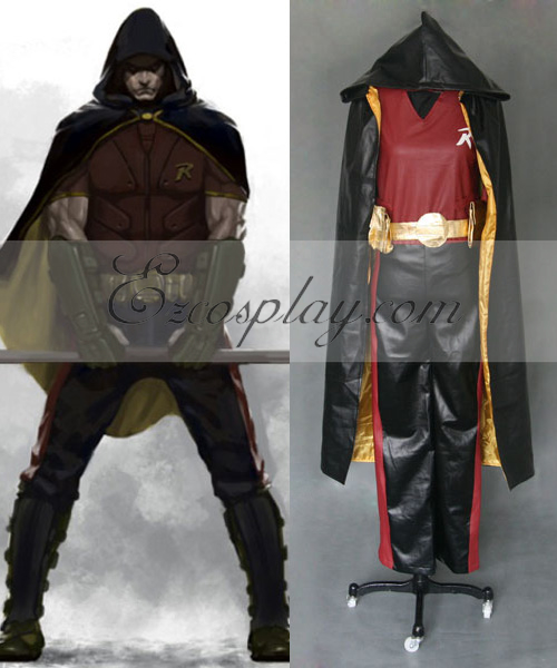 DC Comics Batman Arkham City Robin Cosplay Costume None