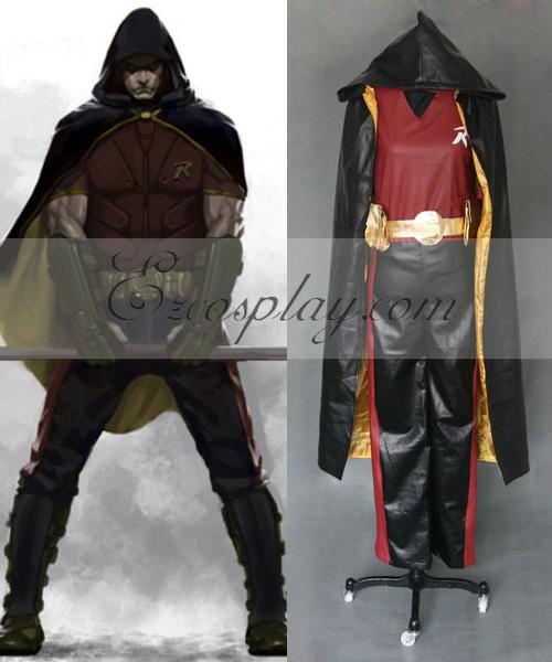 DC Comics Batman Arkham City Robin Cosplay Costume