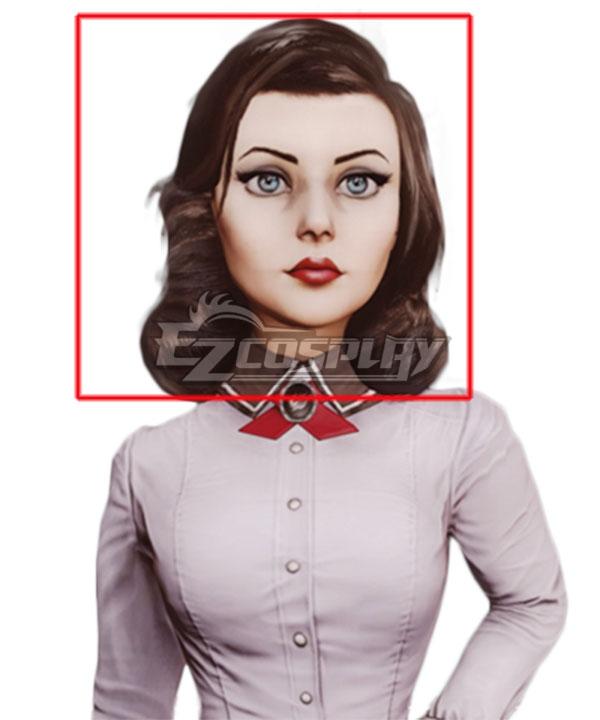 BioShock Infinite Elizabeth Deep Brown Cosplay Wig
