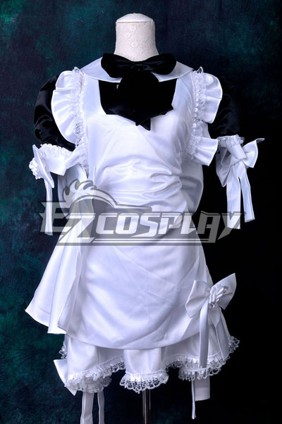 Black & White Maid Dress Cosplay Costume None