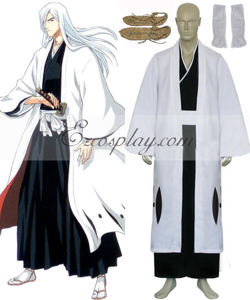 Bleach 13th Division Captain Ukitake Jyushirou Cosplay Costume