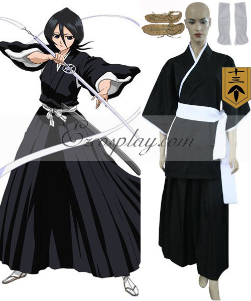 Bleach 13th Division Lieutenant Kuchiki Rukia Cosplay Costume