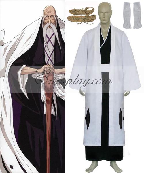 Bleach 1st Division Captain Yamamoto Genryuusai Shigekuni Cosplay Costume