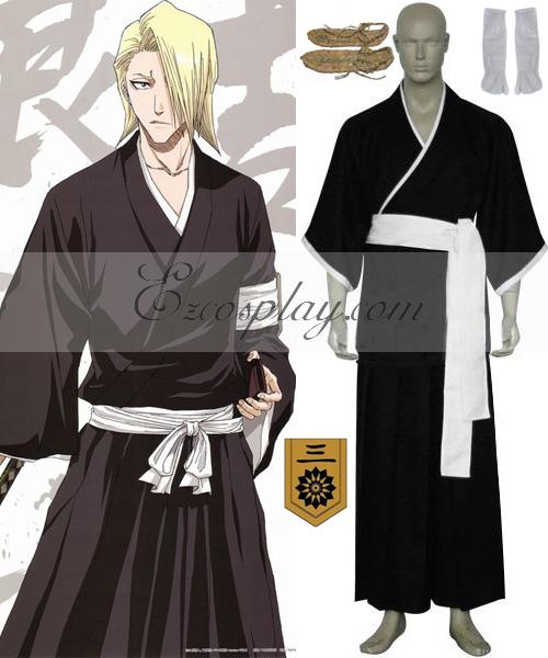 Bleach 3rd Division Lieutenant Kira Izuru Cosplay Costume - B Edition