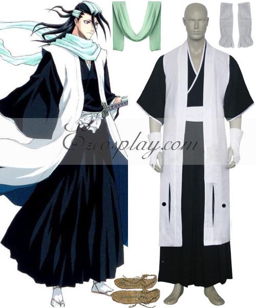 Image of Bleach 6th Division Captain Kuchiki Byakuya Cosplay Costume