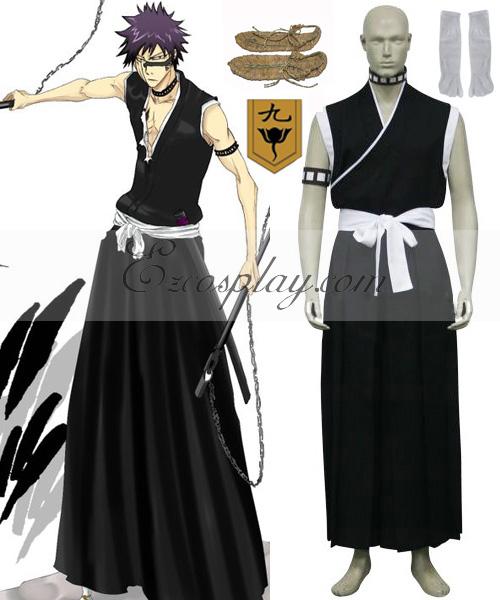 Bleach 9th Division Lieutenant Hisagi Shuuhei Cosplay Costume