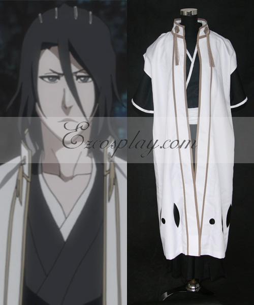 Image of Bleach 6th Division Captain Kuchiki Byakuya Cosplay Costume(Only Coat )