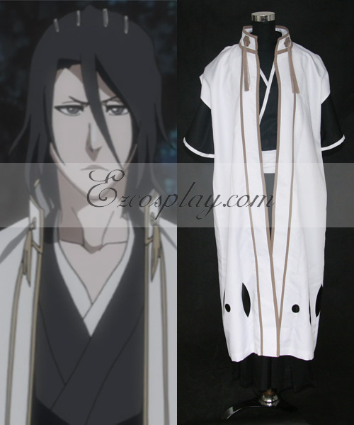 Image of Bleach 6th Division Captain Kuchiki Byakuya Cosplay Costume(Only Coat with long sleeves )