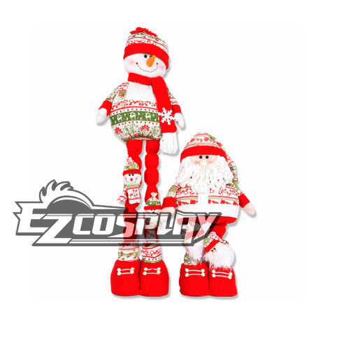 Christmas Stretch Santa Claus Snowman Doll Gift Decoration None