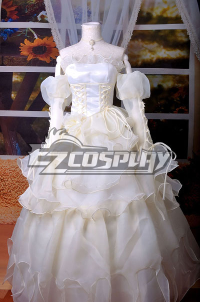 Image of Code Gaess Euphemia White Dress Cosplay Costume