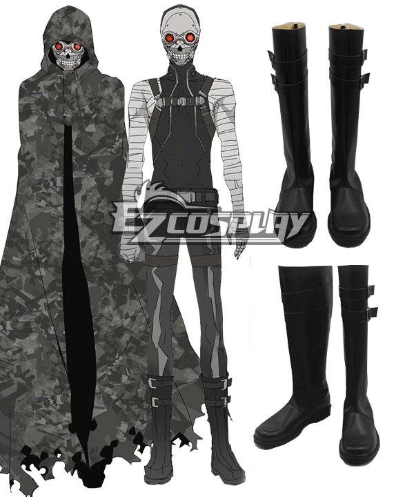 Sword Art Online II GGO Gun Gale Online Shinkawa Shouichi's Creation Death Gun Desu Gan Sterben Flat Boots Cosplay Shoes