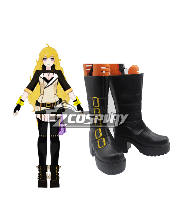 RWBY Volume 2 Yang Xiao Long Black Shoes Cosplay Boots None