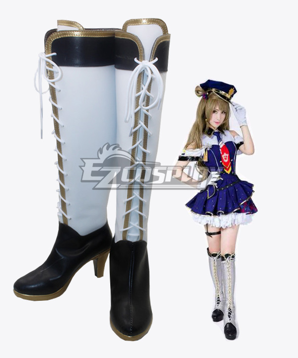 Love Live! School Idol Minami Kotori Policewoman Awaken Boots Cosplay Shoes None