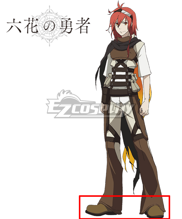 Rokka Braves of the Six Flowers Rokka no Yusha Adlet Myer Adoretto Maiya Brown Cosplay Shoes