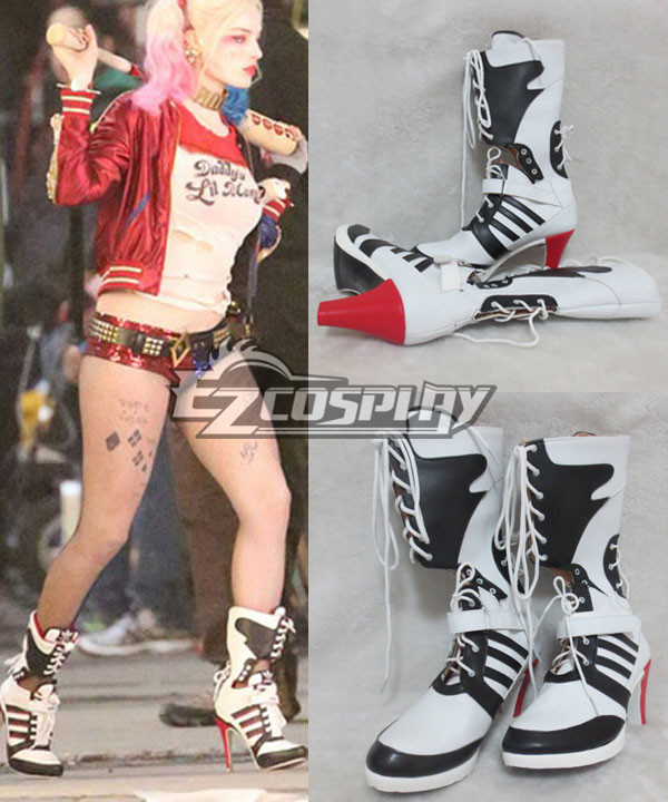 DC Comics New Batman Suicide Squad Harley Quinn Cosplay Shoes