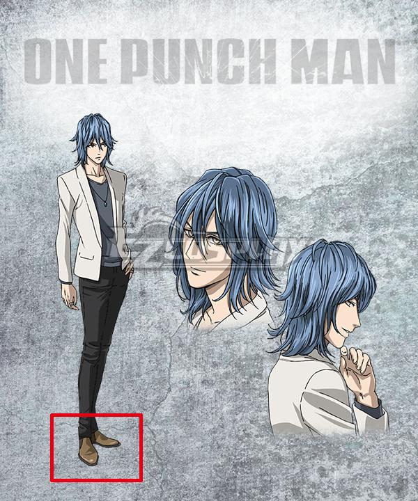 One Punch Man Handsome Kamen Amai Mask Ikemen Kamen Amai Masuku Brown Cosplay Shoes None