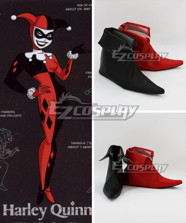 DC Comics Batman Arkham Asylum Harley Quinn Joker Cosplay Shoes None