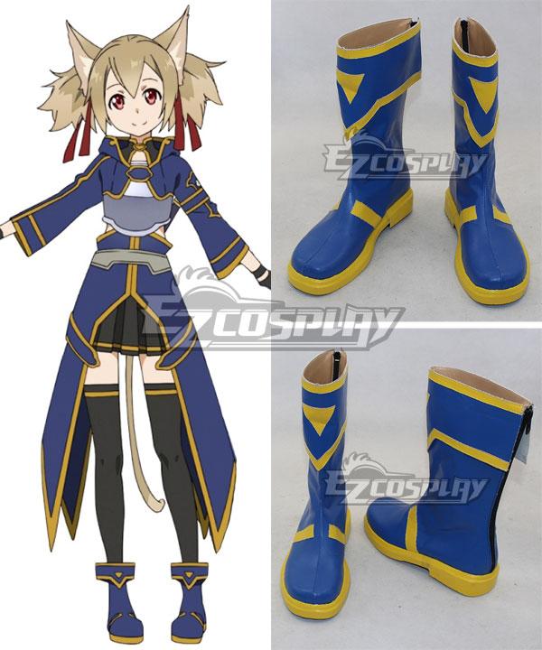 Sword Art Online ALfheim Online SAO ALO Ayano Keiko Silica Blue Shoes Cosplay Boots