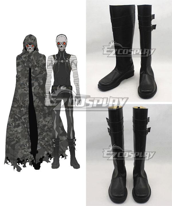 Sword Art Online Gun Gale Online SAO GGO Death Gun Black Cosplay Boots