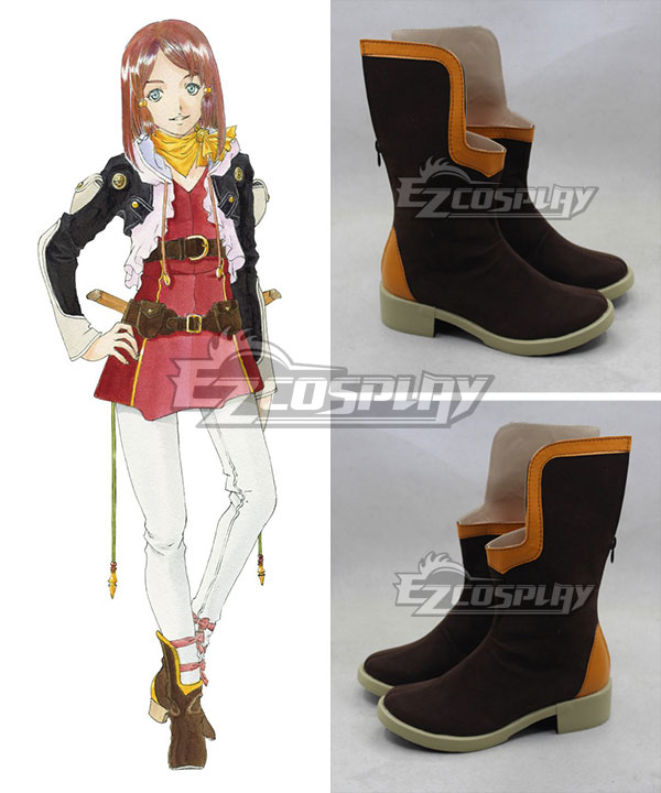 Anime Costumes COSS0483 Tales of Zestiria the X Roze Brown Cosplay Shoes