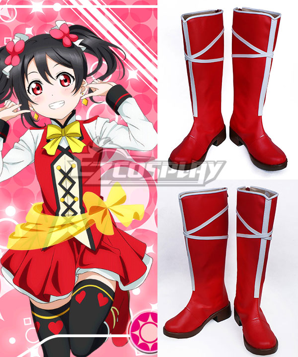 Love Live! Lovelive! School Idol Festival Sunny Day Song Nico Yazawa Red Shoes Cosplay Boots COSS0576