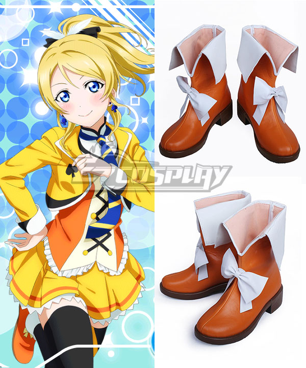 Love Live! Lovelive! School Idol Festival Sunny Day Song Eli Ayase Yellow Shoes Cosplay Boots COSS0577