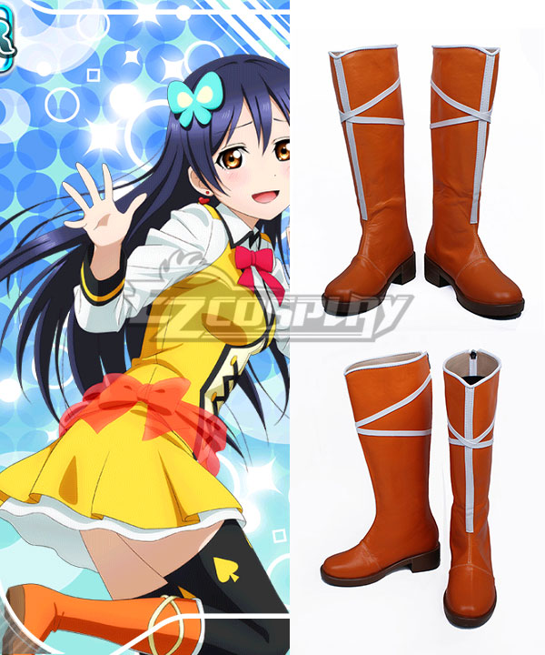 Love Live! Lovelive! School Idol Festival Sunny Day Song Umi Sonoda Orange Shoes Cosplay Boots None