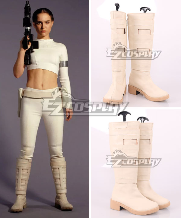 Star Wars Episode II Attack of the Clones Padme Naberrie Amidala Brown Shoes Cosplay Boots None