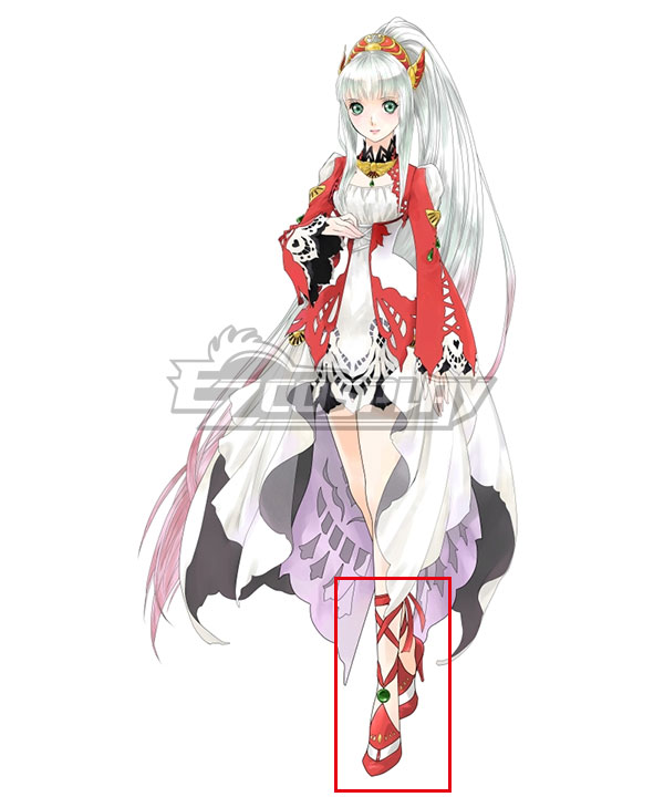 Anime Costumes COSS0644 Tales of Zestiria the X Lailah Red Shoes Cosplay Boots