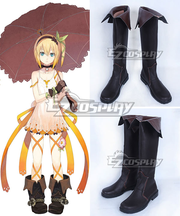 Anime Costumes COSS0645 Tales of Zestiria the X Edna Brown Shoes Cosplay Boots
