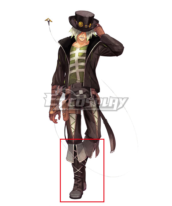 Anime Costumes COSS0646 Tales of Zestiria the X Dezel Brown Shoes Cosplay Boots