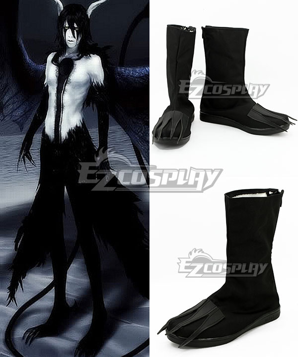 Bleach Ulquiorra Schiffer Final Hollow Black Shoes Cosplay Boots