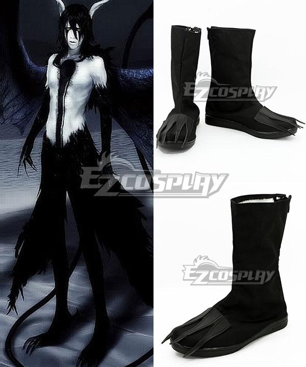 COSS0722 Bleach Ulquiorra Schiffer Final Hollow Black Shoes Cosplay Boots