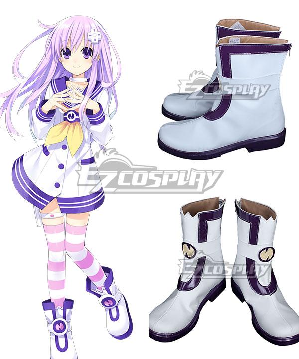 COSS0730 Hyperdimension Neptunia Nepgear White Shoes Cosplay Boots