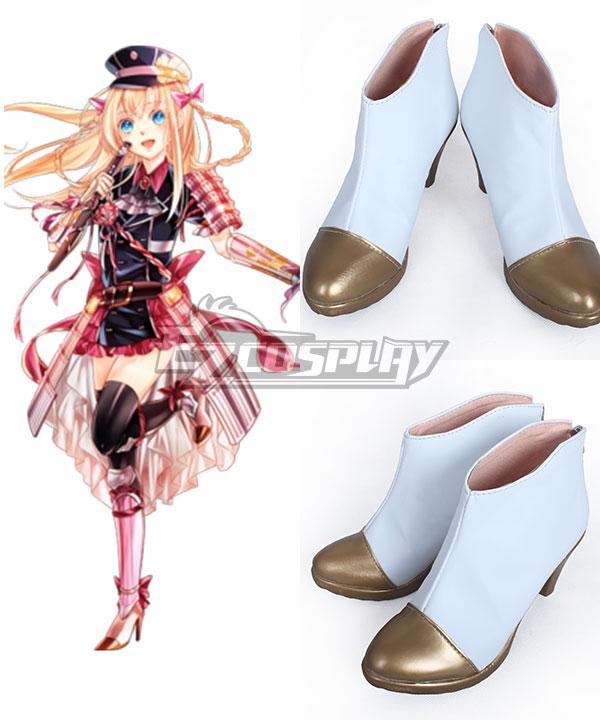 COSS0731 Touken Ranbu Online Midare Toushirou White Cosplay Shoes