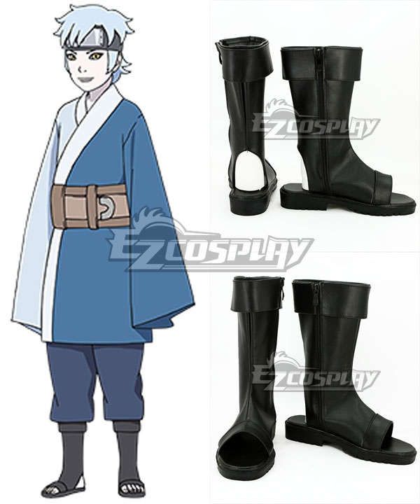 COSS0759 Boruto Naruto The Movie Mitsuki Black Shoes Cosplay Boots