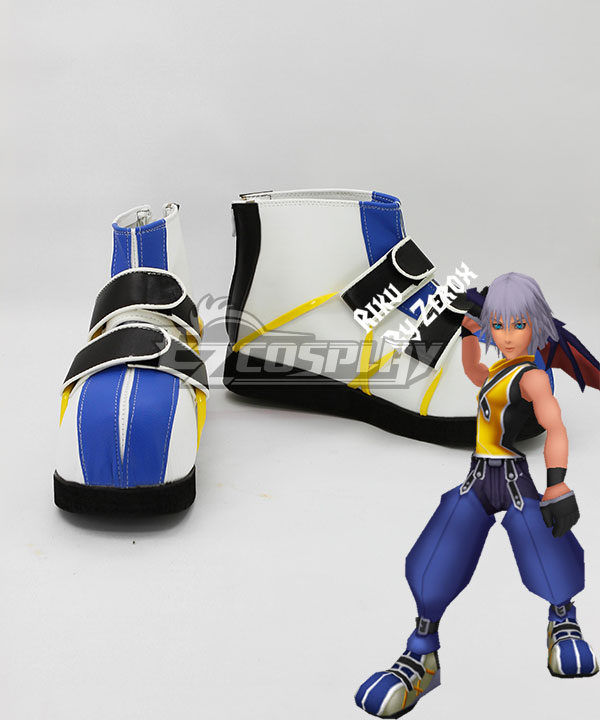 COSS0760 Kingdom Hearts 1 Riku Blue And White Cosplay Shoes