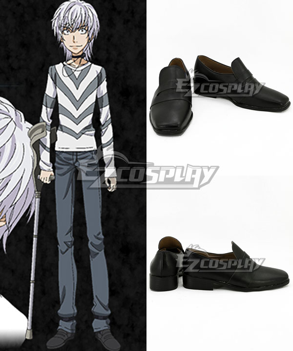 COSS0748 Certain Magical Vector Change Level5 Black Cosplay Shoes