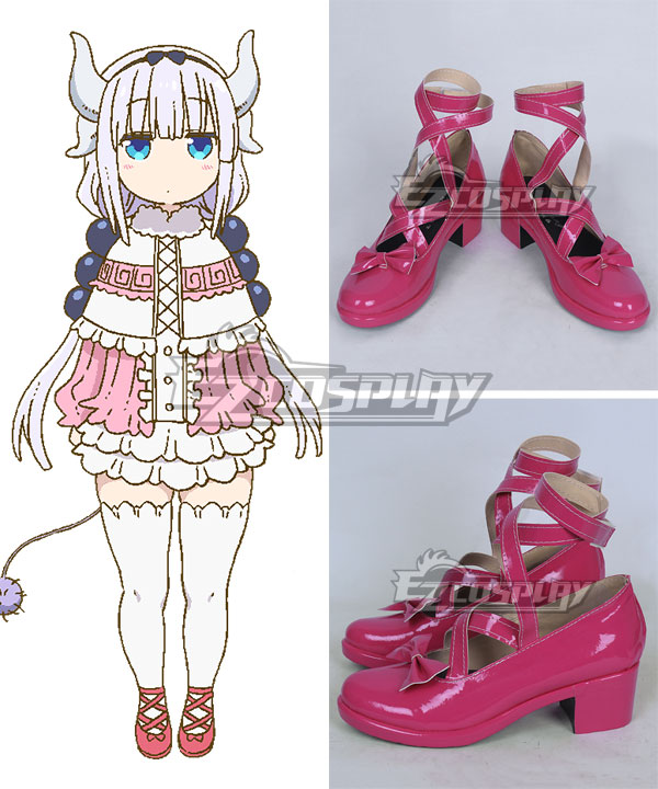 Miss Kobayashiu0026#39;s Dragon Maid Kanna Kamui Pink Cosplay Shoes - A Edition