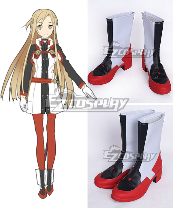 Sword Art Online Ordinal Scale Yuuki Asuna Yuki Asuna Movie Black Shoes Cosplay Boots None