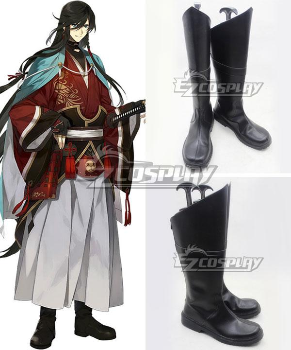 Anime Costumes COSS1129 Katsugeki Touken Ranbu Izuminokami Kanesada Black Shoes Cosplay Boots