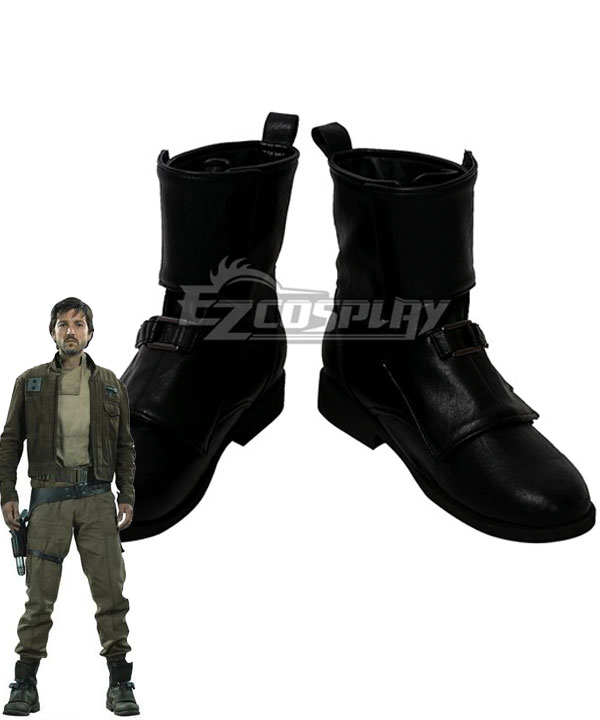 Rogue One: A Star Wars Story Captain Cassian Andor Black Shoes Cosplay Boots None