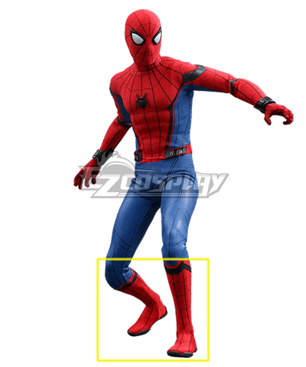 Marvel Spider-Man:Homecoming Spider-man Superhero Peter Parker Halloween Red Shoes Cosplay Boots None